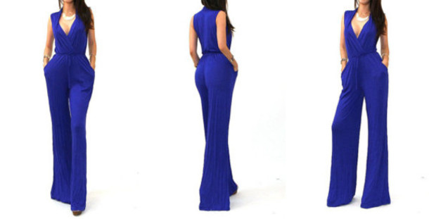 Royal Blue Jumpsuit - Shop for Royal Blue Jumpsuit on Wheretoget