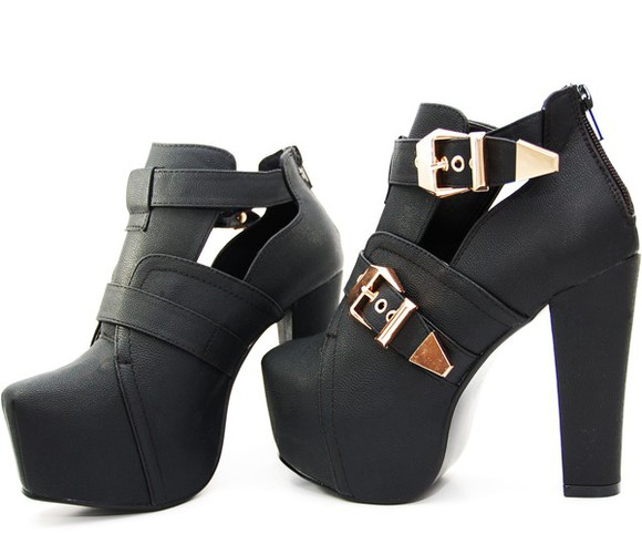 shoes high heels lita platform boots cut-out heels