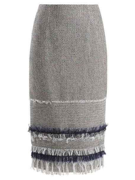 skirt pencil skirt white