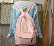 bag,crybaby,satan,pink,baby pink,backpack,pink backpack,tumblr,aesthetic,kawaii