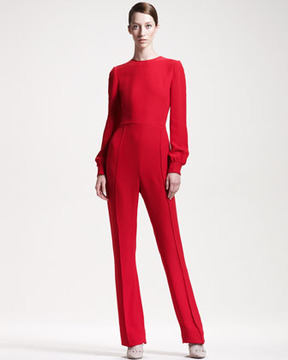 Valentino Keyhole-Back Jumpsuit @ Neiman Marcus - 5th village