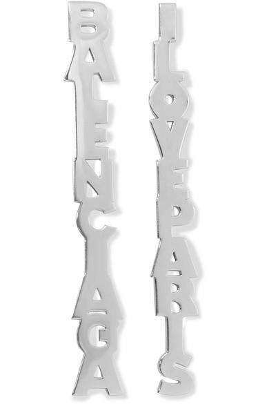Balenciaga - Typo Silver-tone Earrings - Typo Silver-tone Earrings