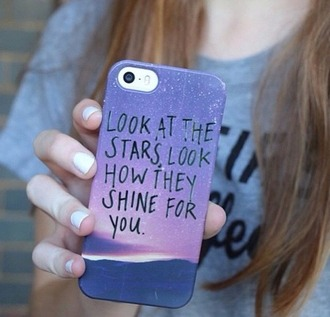 phone cover quote phone case home accessory stars sunset