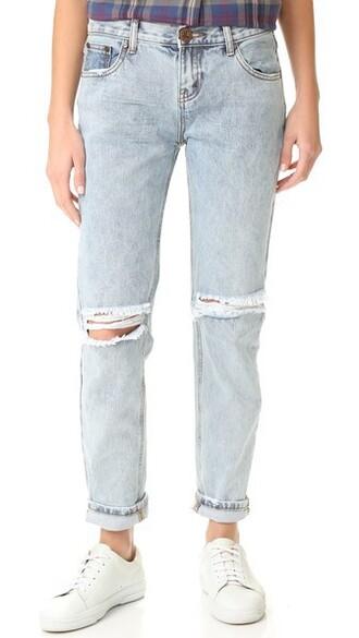 jeans baggy jeans blue