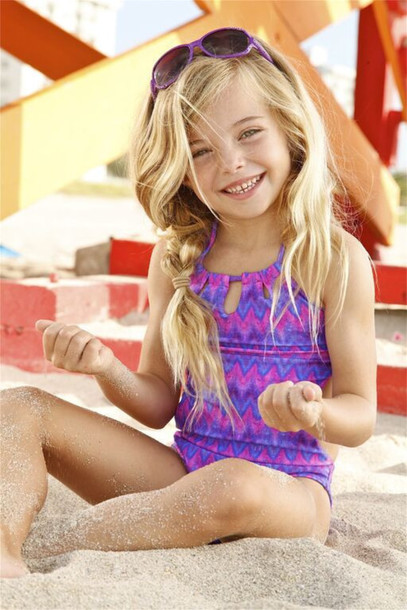 Swimwear: bikini, kids fashion, purple, purple bikini ...