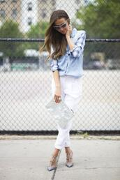 something navy,top,shoes,sunglasses,pants