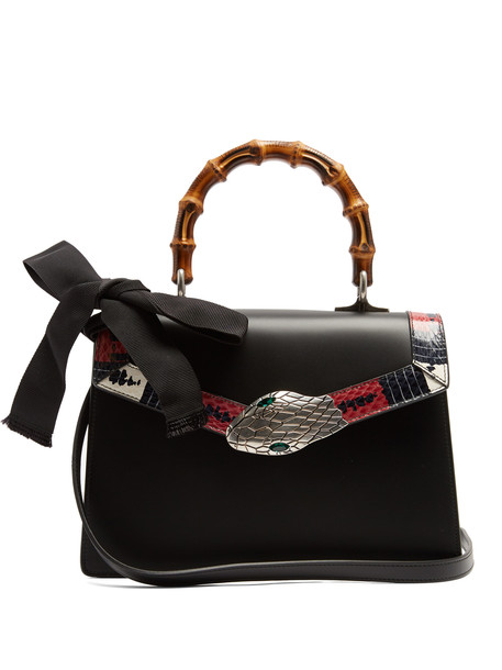gucci bag leather bag leather black