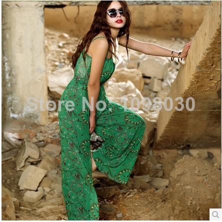 Nouveau nouveauté 2014 lâche femmes. barboteuses vert, modèles, d'impression. élastique à la taille globale dans  de  sur Aliexpress.com