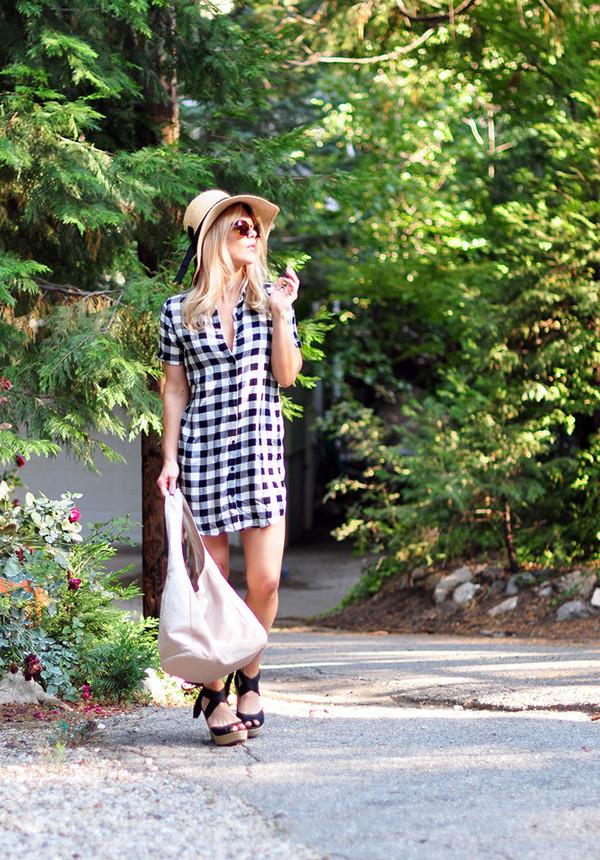 love maegan blogger dress sunglasses bag shoes sandals summer outfits sun hat shirt dress