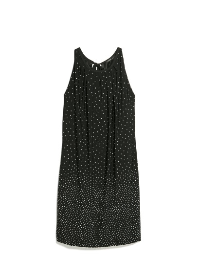 bow polka-dot dress