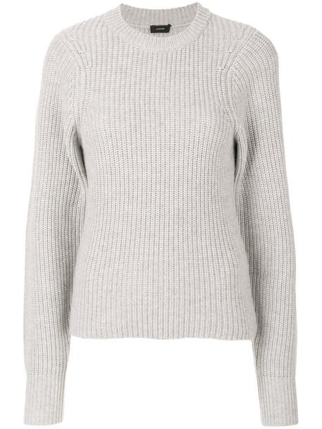 Joseph jumper long women silk wool grey sweater