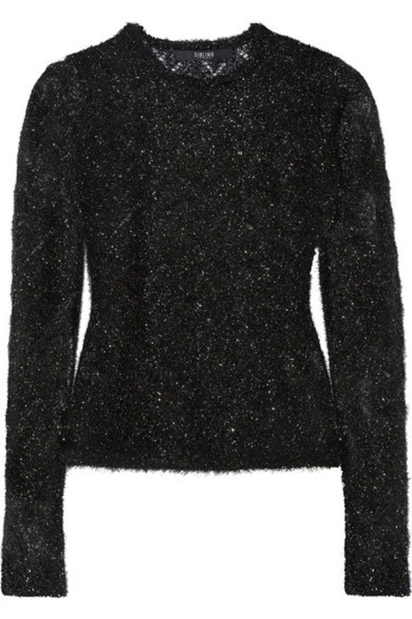 Sibling - Metallic Knitted Sweater - Black