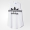 Adidas inked long tank dress - white | adidas us