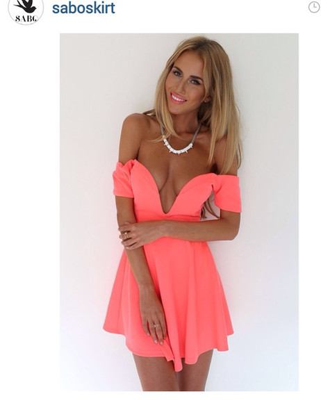 pink dress sabo skirt saboskirt orange dress