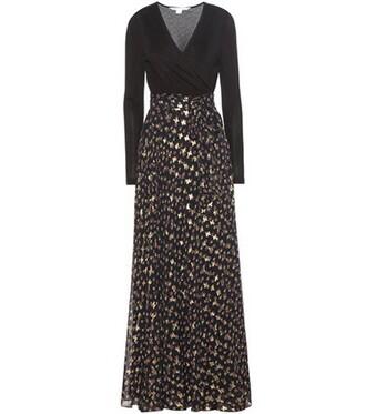 dress wrap dress silk black