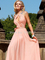 Aliexpress.com : buy sweet customized cheap prom dresses 2015 vestidos de fiesta pink halter beading open back long chiffon prom dress fast shipping from reliable prom dresses suppliers on dressanswer
