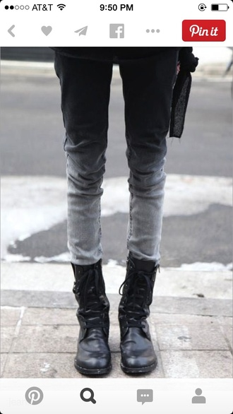 jeans ombre