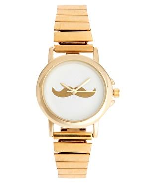 ASOS | ASOS Moustache Face Expander Watch at ASOS