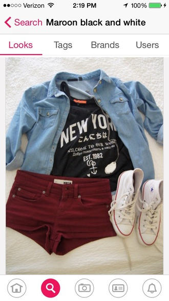 shirt t-shirt new york city converse tank top denim shirt