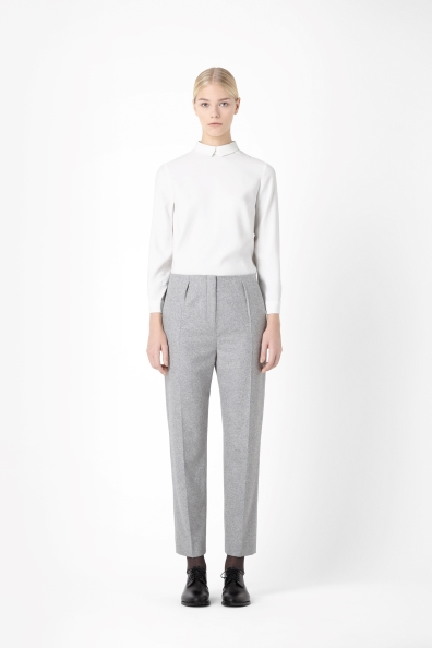 Tapered wool-mix trousers