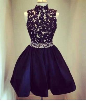 dress blue dress lace dress prom dresses /graduation dress .party dress homecoming dress