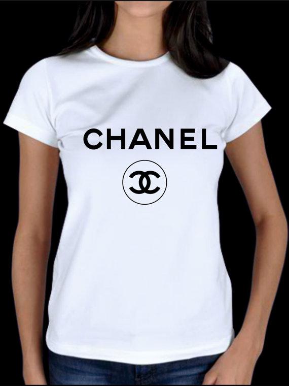 Chanel logo tshirt chanel women top chanel glen coco by for Chanel logo t shirt to buy