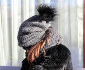 hat,alpaca hat,wpmen hat,warm hat,wool hat,beanie,pom pom beanie,teen hat,knitted beanie,knit hand made hat,grey hat,warm knit beanie,fur hat with pompom,beanie chunky hat,warm women hat,grey beanie