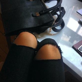 bag black leather bag