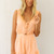 Orange Jump Suits/Rompers - Peach Lace Playsuit with Frill | UsTrendy
