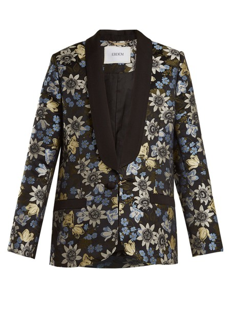 Erdem jacket jacquard floral black