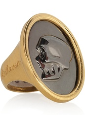 jewels,alexander mcqueen,ring,skull,gold