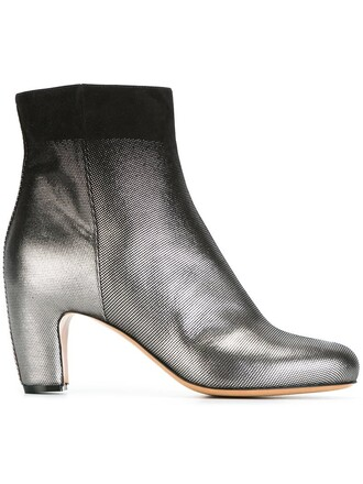 boots ankle boots grey shoes