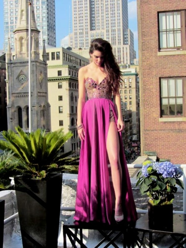 bag dress prom dress long prom dress pink dress purple dress pink prom dress purple prom dresses sweetheart dress embellished dress jewels