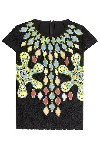 top embroidered wool multicolor