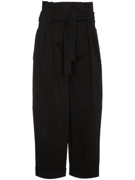 Alberta Ferretti high women spandex cotton black pants