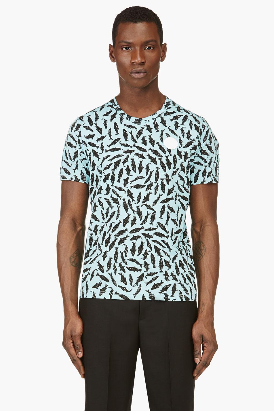 kenzo aquamarine shark print t_shirt
