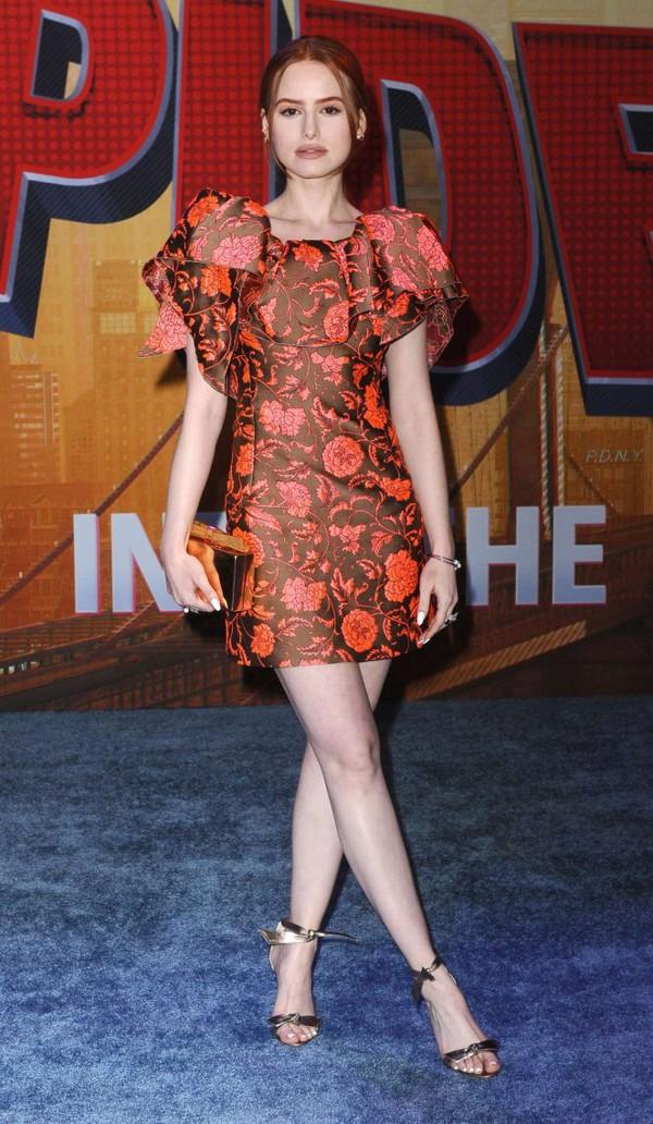 dress madelaine petsch celebrity mini dress floral