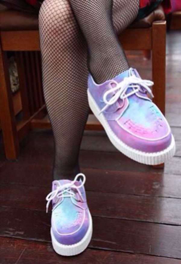 shoes grunge soft grunge pale colorful grunge shoes cute creepers pastel platforms
