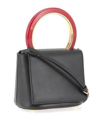 handbag leather black bag