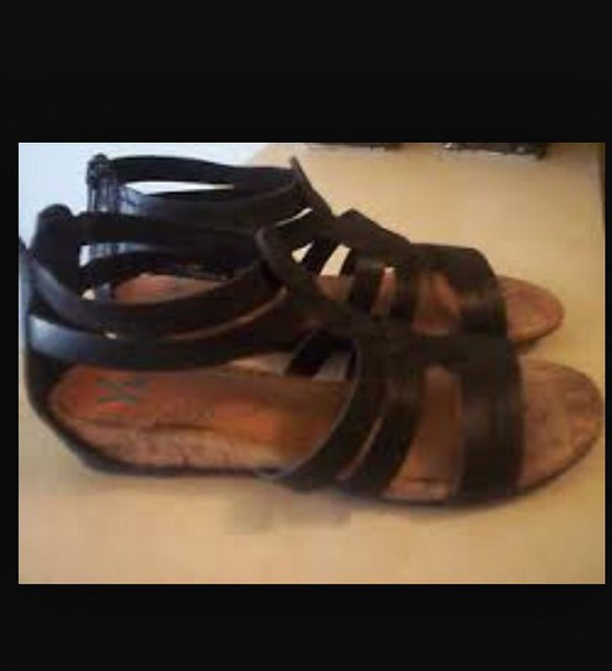 shoes black yuu gladiator sandals
