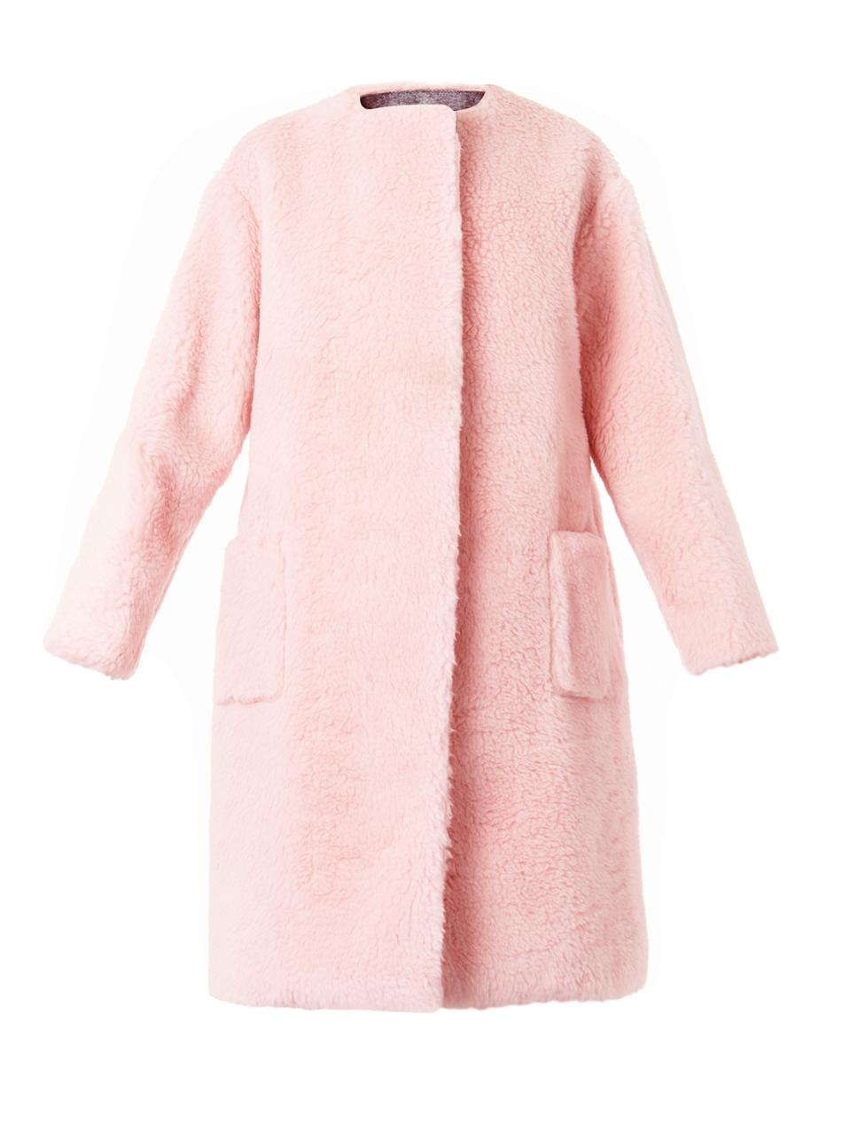 Boiled-wool collarless coat | Rochas | MATCHESFASHION.COM