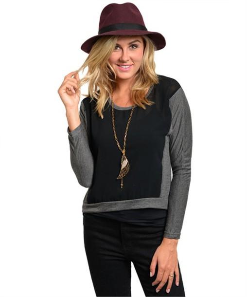 sweater grey black