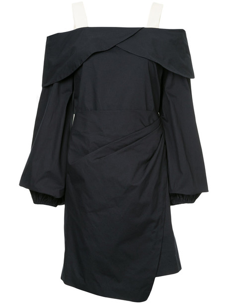 dress wrap dress women cotton blue