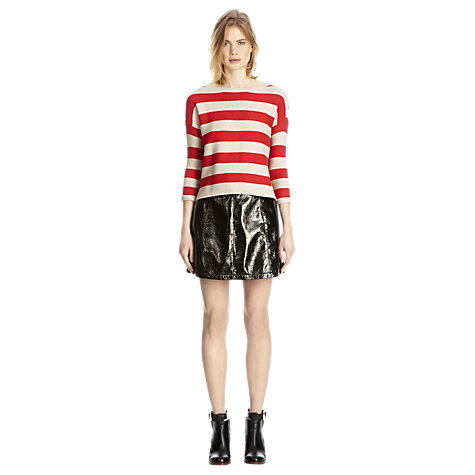 Buy Warehouse Popper Back Stitch Stripe Jumper online at John Lewis