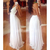 Elegant Low-cut Backless Lace Strap Long Dress - $19.48