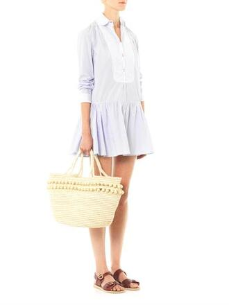 dress thierry colson lizbeth stripe cotton shirt dress