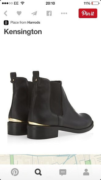 shoes black boots boots chelsea boots
