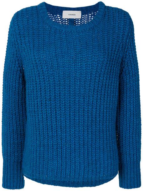 jumper women spandex blue wool sweater