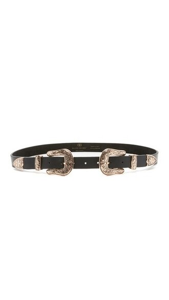 rose gold rose baby belt gold black