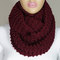 Hand knitted burgundy wine infinity scarf christmas gift neck warmer -escherpe